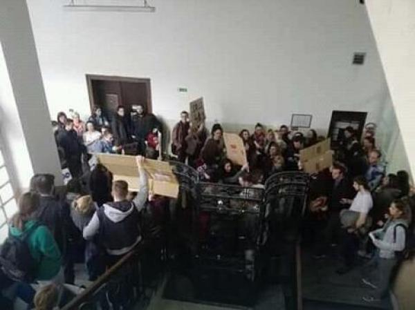 Protesti studenata  Filološkog i Stomatološkog fakulteta UB
