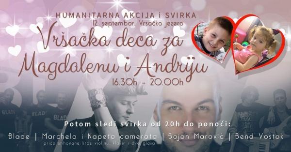 """Humanitarna akcija """"Vršačka deca za Magdalenu i Andriju""""  na jezeru!"""